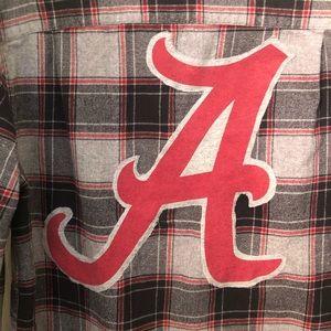 U of Alabama long sleeve plaid flannel shirt